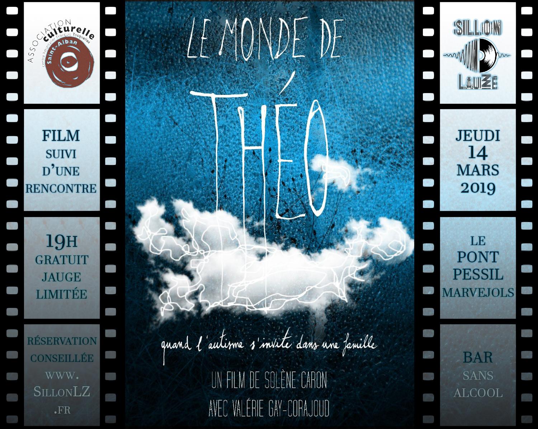 Le Monde de Théo, film et rencontre autour de l'autisme, mercredi 14 mars 2019 au Sillon Lauzé.