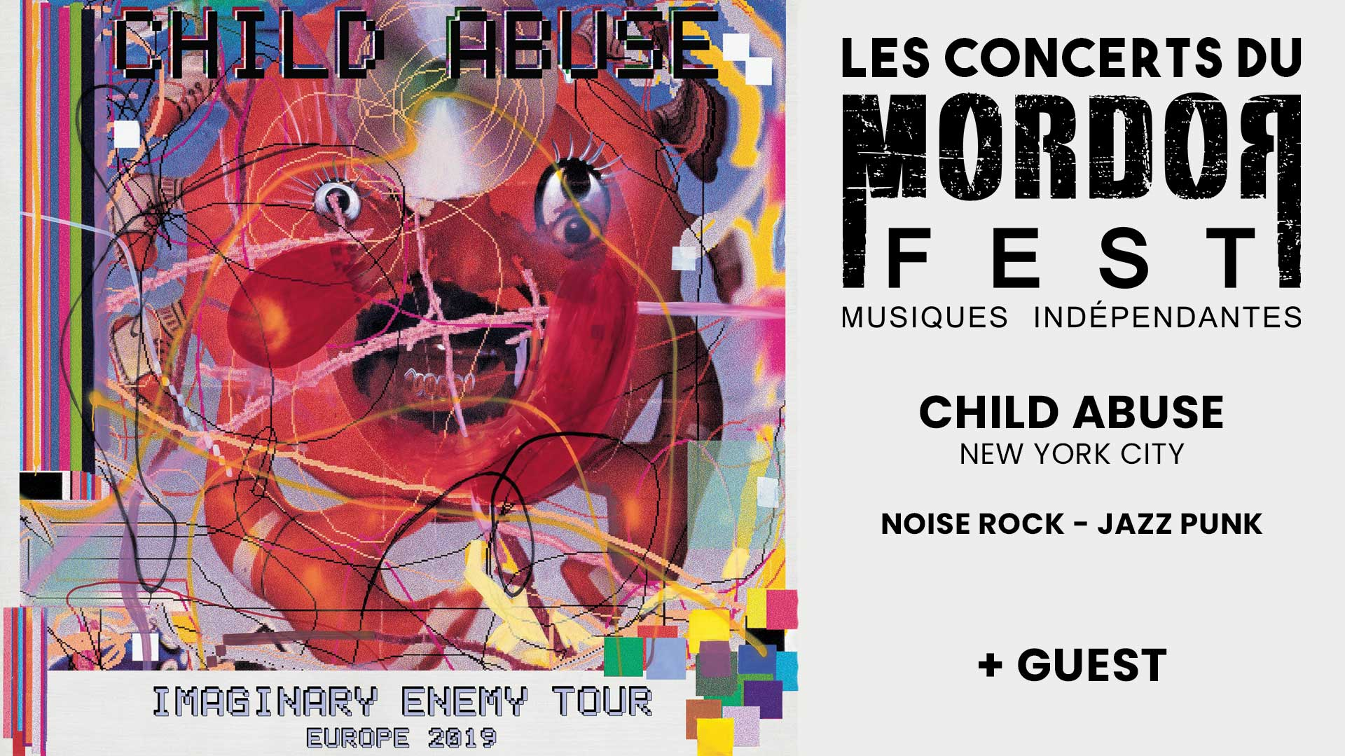 Child Abuse (New York, USA) en concert au Sillon Lauzé, invité par le MOrdorFest, mercredi 18 septembre 2019