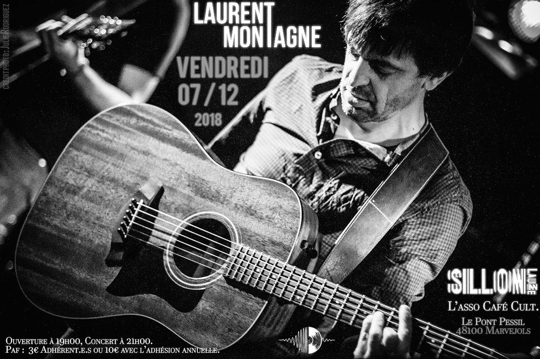 Laurent Montagne en concert le 07/12/18 au Sillon Lauzé